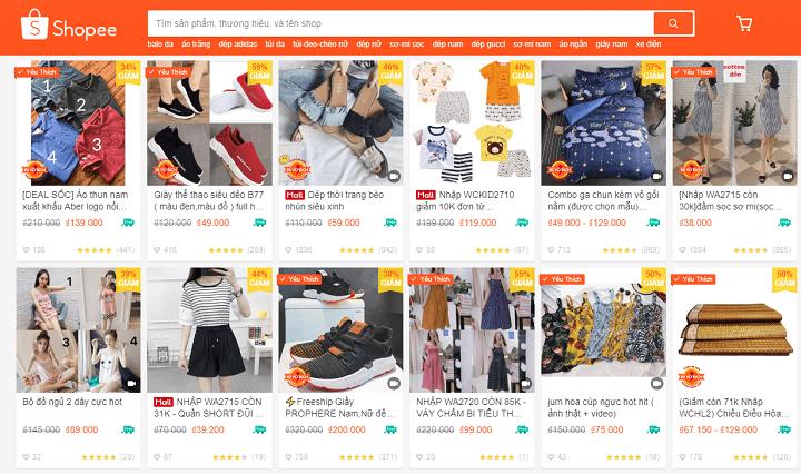 kenh ban hang online hieu qua nhat 2018 shopee 1 - Bán hàng online năm 2019 - 8 Lựa chọn kênh bán hàng hiệu quả cho doanh nghiệp để thu lợi nhuận khủng