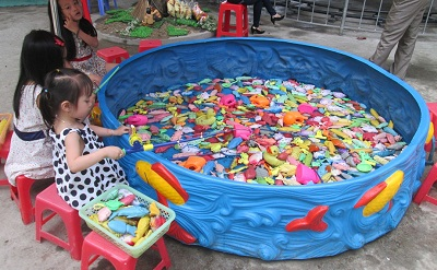 bể câu cá nhựa - khu vui chơi trẻ em