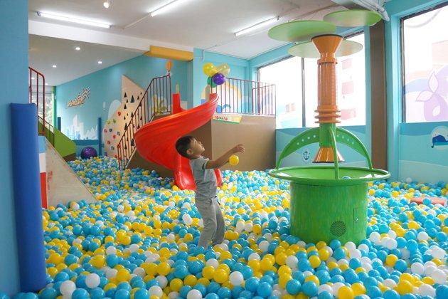 Nhà banh - Khu vui chơi cho bé