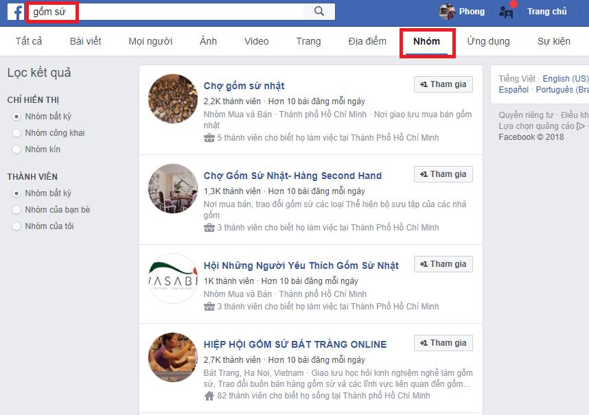 cach tim nhom ban hang facebook - Cách tìm Nhóm chất trên Facebook để bán hàng online được hiệu quả hơn