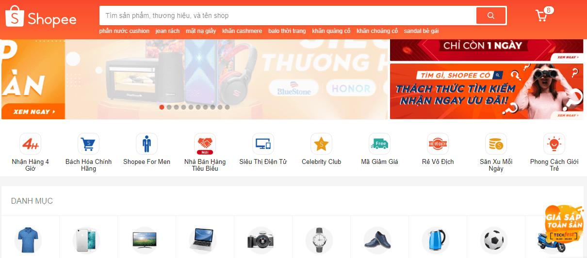 bán hàng trên sàn thương mại điện tử shopee