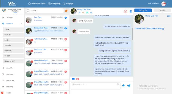 Công cụ quản lý page Simple Care của ATP Software