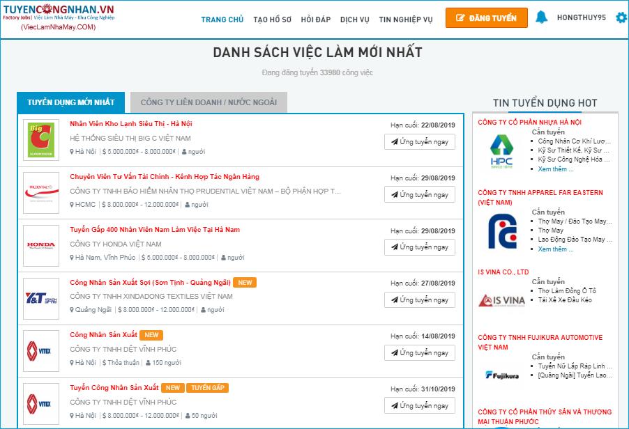 TOP 10 trang web tìm việc làm uy tín nhất Việt Nam năm 2019 8