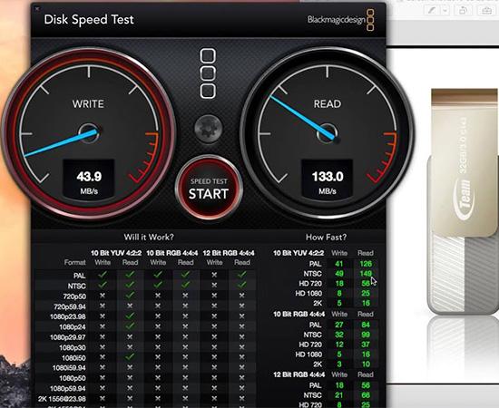 - Kiểm tra tốc độ đọc/ghi bằng Disk Speed Test