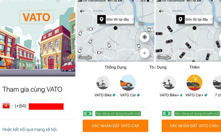 Vato - Ứng dụng gọi xe của Phương Trang