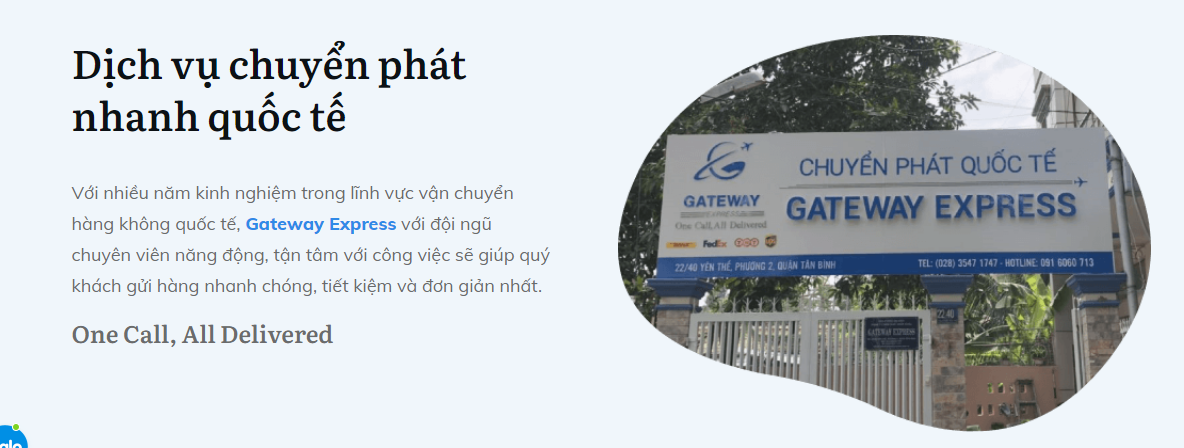 Gateway - đơn vị hỗ trợ khách hàng gửi hàng theo DHL Việt Nam uy tín