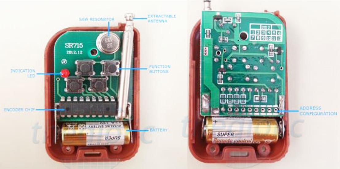 Cách xác định điều khiển từ xa RF (RF remote control)