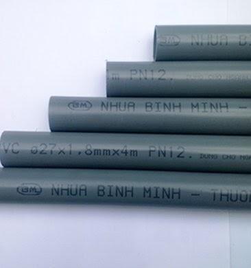 Sử dụng đường ống kích cỡ lòng ống tiêu chuẩn 1 inch