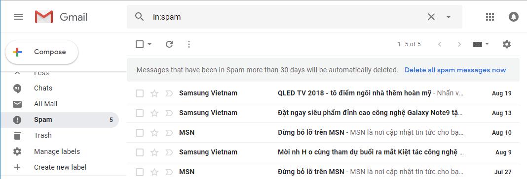 Email Hosting] Hướng dẫn xử lý khi email bị đưa vào Spam/Junk